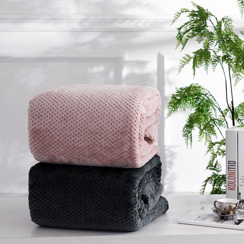 الأناناس تحقق الفانيلا رمي نوعية جيدة المنسوجات المنزلية منقوشة غرفة الهواء الخريف الشتاء استخدام دافئ لينة ملاءات