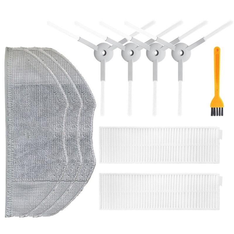 Hepa filtro escova lateral mop pano limpo kit de ferramentas para xiaomi mijia g1 robô aspirador peças acessórios mjstg1