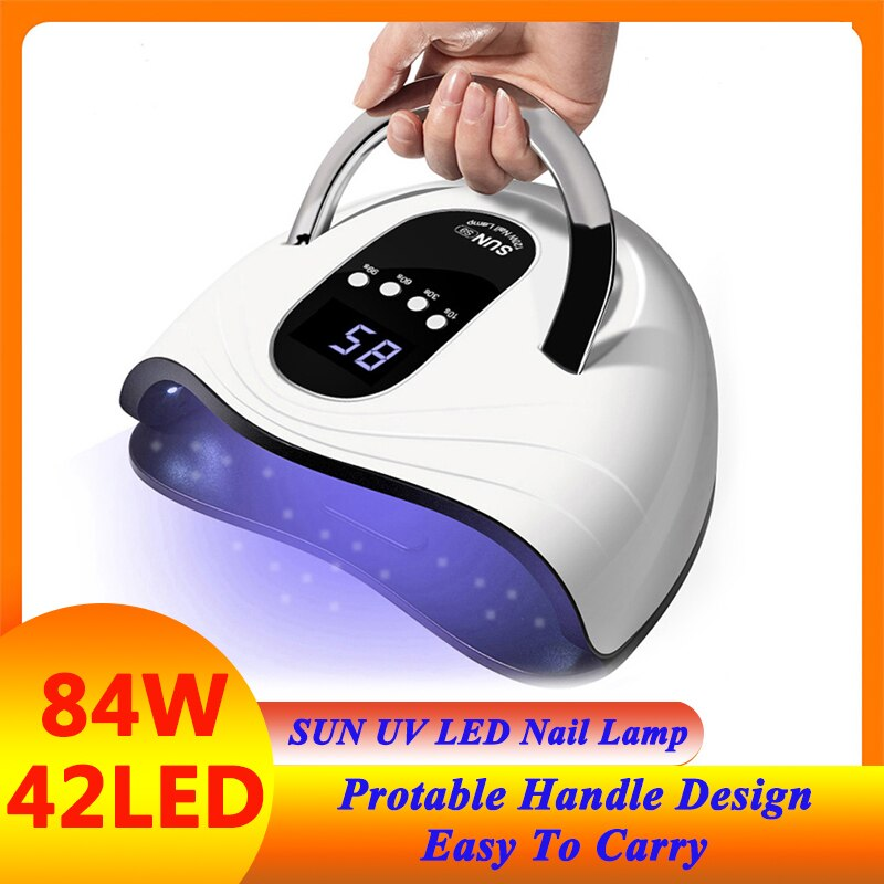 UV LED Lamp Nail Dryer With 42 Pcs Leds Nail Lamp For Manicure Machine Curing Gel Nail Polish With LCD Display For Nail Art Tool