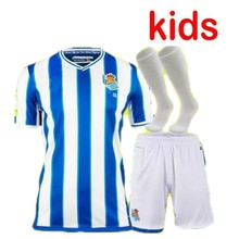 20 21 For Real Sociedad Casual Shirt 2020 2021 Portu Merino OYARZABAL WILLIAN J Kids Kit Camisetas D