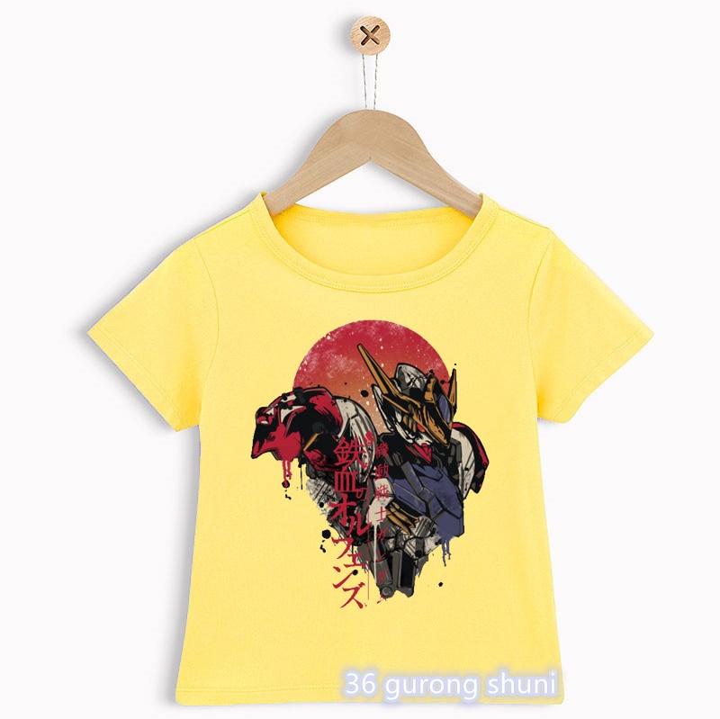 Camisetas con estampado de dibujos animados de Gundam para niños, camisetas divertidas...