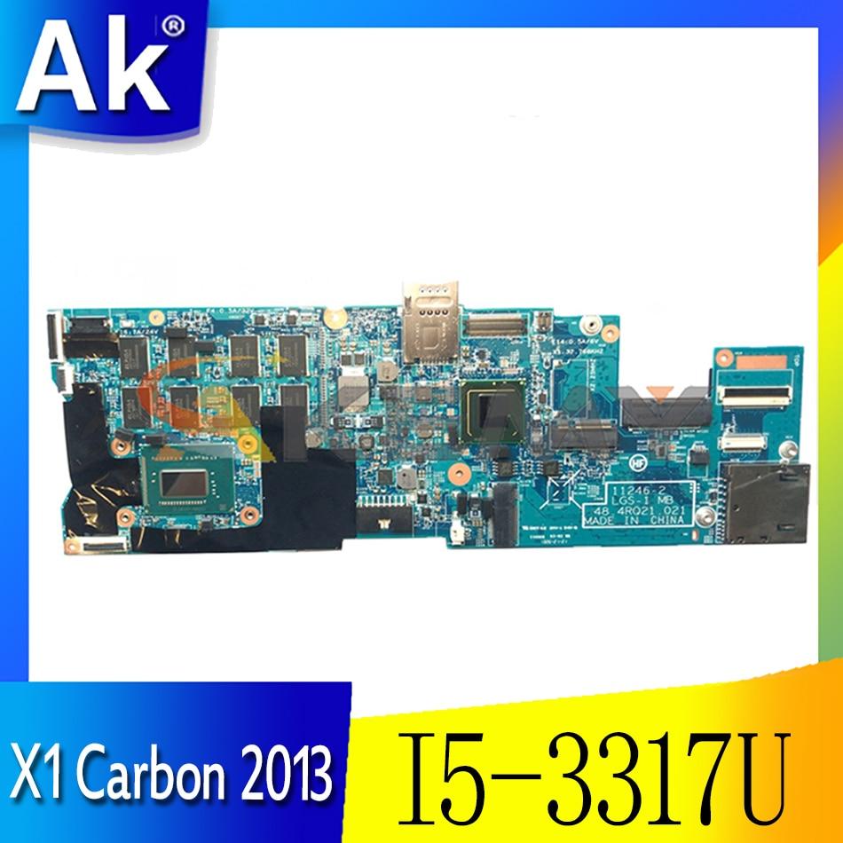 Akemy 11246-2 LGS-1 MB 48.4RQ 21.21 لينوفو ثينك باد X1 الكربون 2013 اللوحة الأم للكمبيوتر المحمول CPU I5 3317U RAM 4GB 100% اختبار