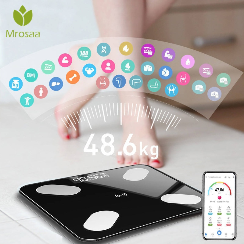 Bluetooth Body Fat Scale Smart BMI Scale LED Digital Bathroom Wireless Weight Scale Balance Body Composition Analyzer APP bluetooth body fat scale smart electronic scales bmi body composition analyzer weighing scale
