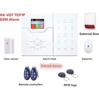 Systeme dalarme de securite pour maison intelligente  TCP IP  GSM  anti-intrusion  avec sirene stroboscopique externe  2019