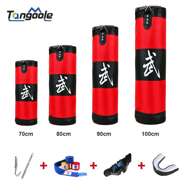 Nueva bolsa de boxeo MMA Boxer para entrenamiento de boxeo, bolsa de deporte colgante con gancho, bolsa de arena para perforar y golpear 70-100cm