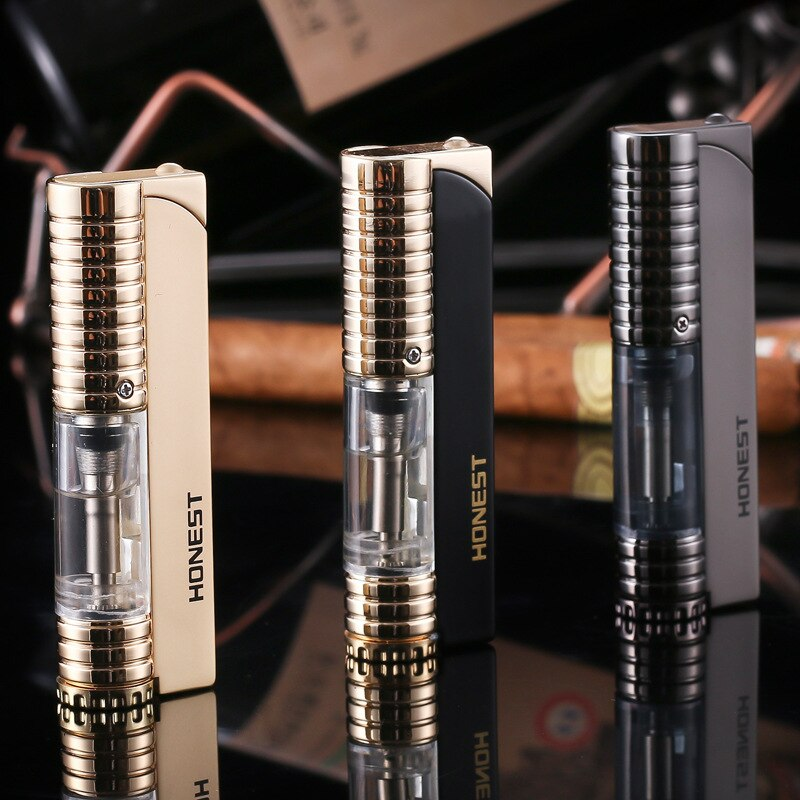 Windproof Butane Gas Lighter Portable Metal Cigarette Cigar Lighter Inflatable Creative Lighters Smoking Accessories Men Gifts enlarge