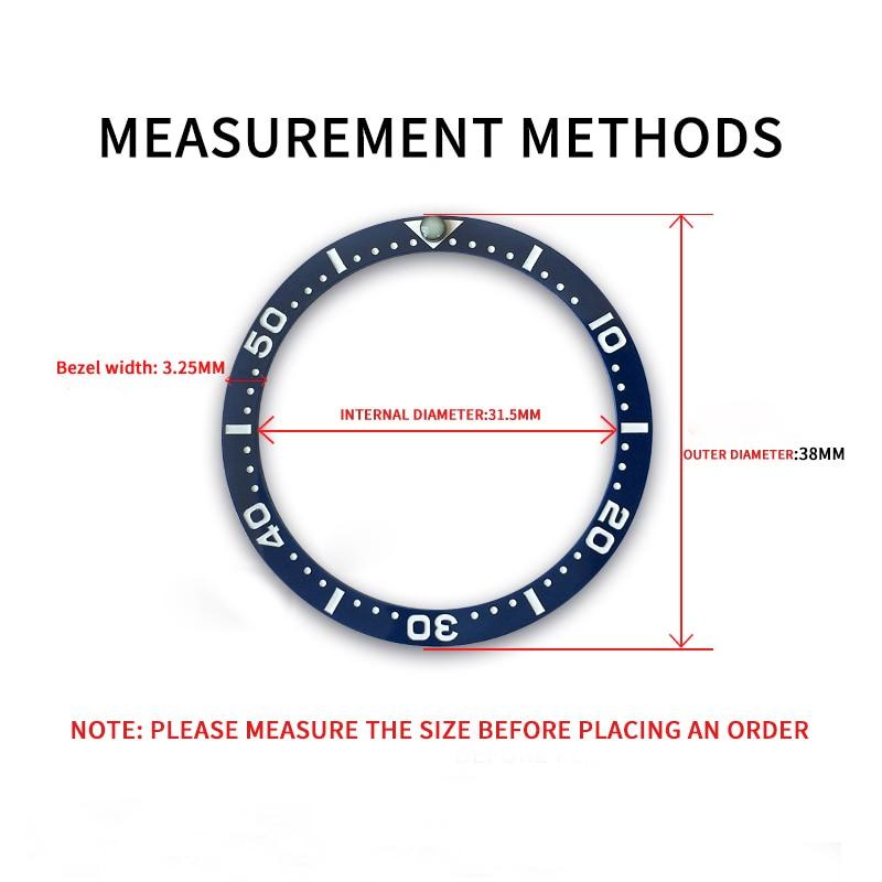 Inserir para Seiko Shengmeirui Cerâmica Moldura Dial Prospex Relógio Relógios Rosto Substituir Acessórios Colorido Anel Gmt Skx0 31.5-38mm