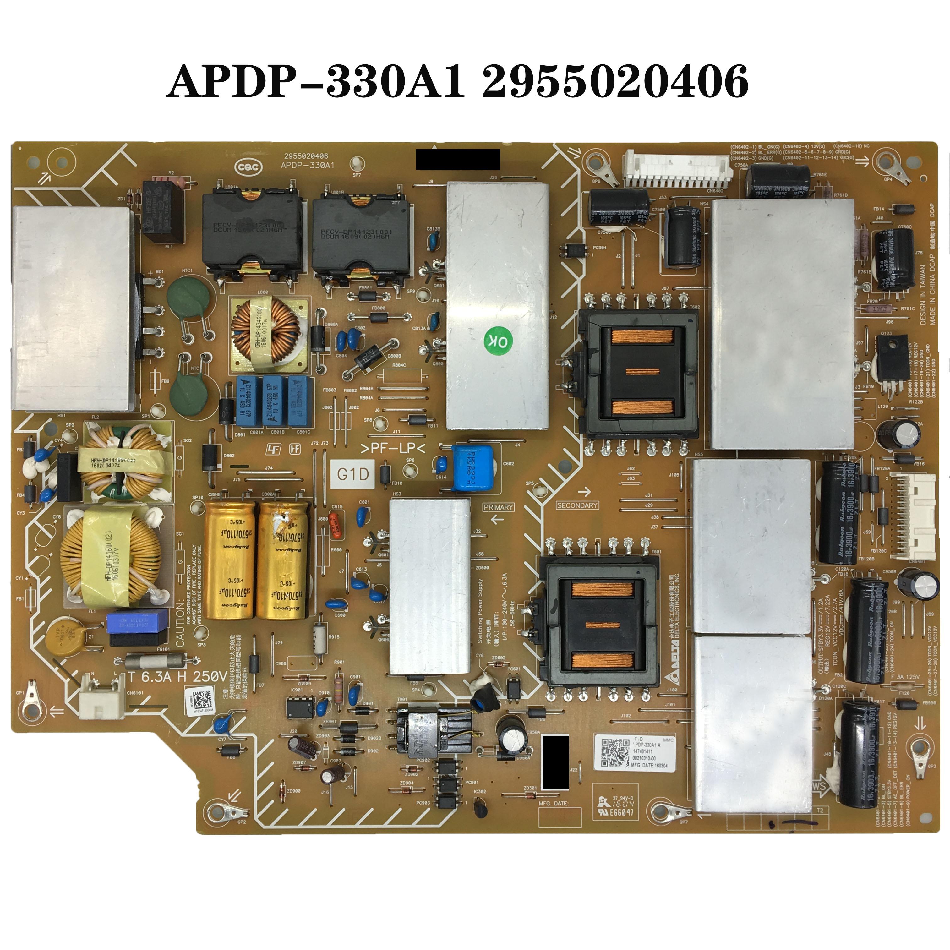 100% para Sony Teste Original Power Board Apdp-330a1 2955020406 Kd-65x9000c