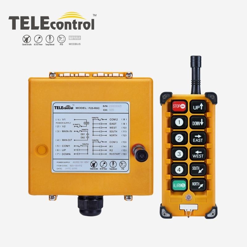Промышленный пульт дистанционного управления F23-A + + Подъемный Кран кнопочный переключатель 8 кнопок 1 приемник 1 передатчик для подъемного к...