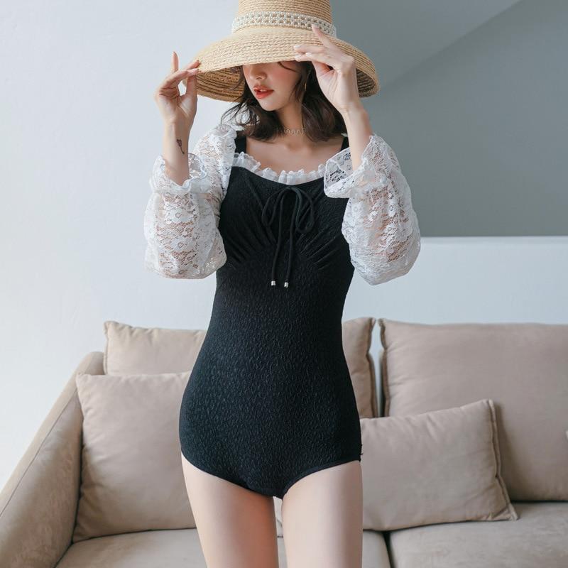 Swimsuit Female One-Piece Trendy Slimming Swimsuits Fused Biquinis Bath Maillot De Bain Femme Plus Size Swimwear Monokini For