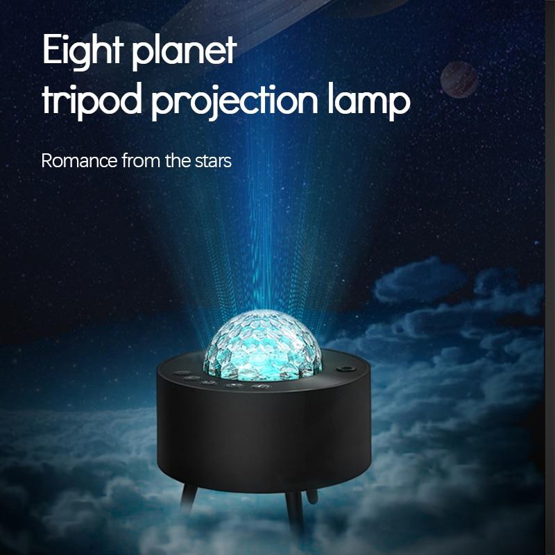 estrelado projetor galaxy night light com oceano onda musica alto falante blueteeth