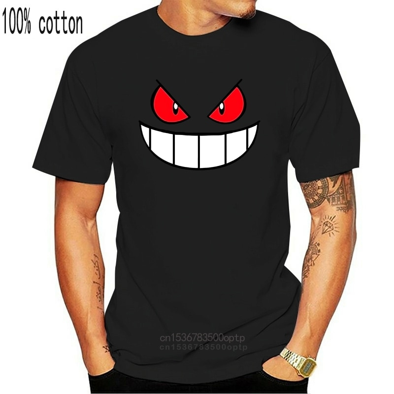 Anime Cartoon Gengar Adulto T-shirt O Collo Top Tees Casuale eine Maniche Corte T-Shirt Creativo Uomo T Shirts