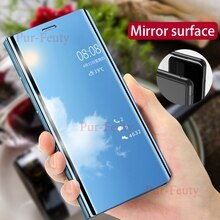 Funda para Samsung Galaxy A 60, 70, 80 y 90, lujosa, lisa, de lujo, con espejo inteligente, funda para teléfono Samsung galaxy a60, A70, A80 y A90