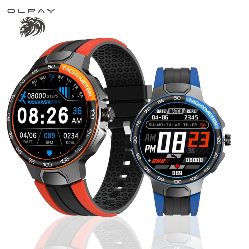 جديد ساعة ذكية الرجال معدل ضربات القلب ضغط الدم رصد IP68 مقاوم للماء مقياس مسافة السير بالبلوتوث تحكم بالموسيقى السعرات الحرارية Smartwatch