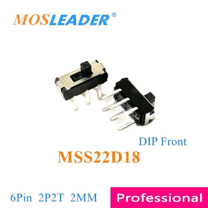 Mosleader-مفتاح انزلاق جانبي ، 1000 قطعة ، DIP SMD MSS22D18 6 P 6 Pin 2 مللي متر 2 T 2 Travel MSS22D18G2 ، مفتاح منزلق أمامي ، مفتاح تبديل DVD