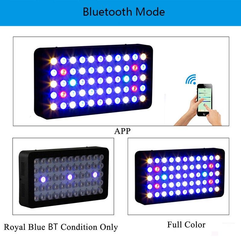 Led Aquarium Light for Coral Reef Fish Tank Plant Bluetooth Control 165w Marine Aquarium Led Lighting Dimmable Full Spectrum enlarge