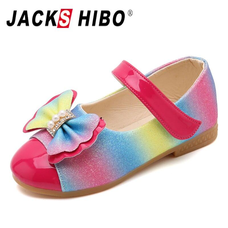 JACKSHIBO 2020 nueva primavera niños zapatos de princesa niñas lentejuelas niñas boda fiesta niños vestido zapatos para niñas sandalias para la escuela