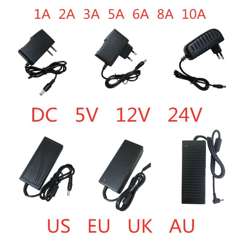 5V 12V 24 V 1A 2A 3A 5A 6A 8A 10A fuente de alimentación AC DC adaptador cargador transformador drive 5 12 24 V voltios para luz Led tira de lámpara