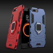 For Xiaomi Mi 8 lite Case Armor PC Cover TPU Rim Finger Ring Holder Phone Case on For Mi 8 Mi8 Lite