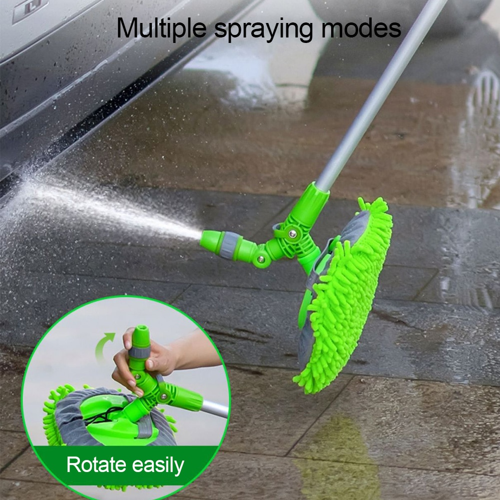 1pc microfiber telescoping car body duster wax dust mop cleaning brush cotton nanofiber car microfiber dust grey brush 13 5x40cm Car Wash Mop Mitt Chenille Microfiber Rotatable Dust Brush Multifunctional Vehicle Cleaning Tools With Long Handle Car Styling