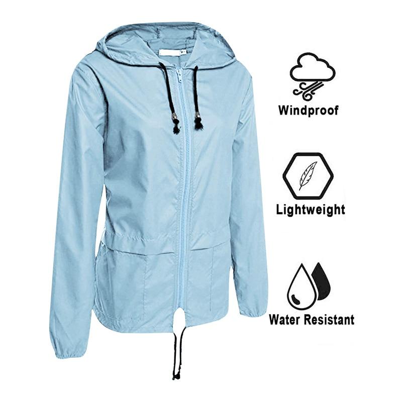 Женская непромокаемая куртка, уличная ветровка с капюшоном и регулируемым шнурком