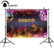 Allenjoy-banderoles décoratives murales   Fête Disco, musique scintillante, rideau de photos-appel sur scène, Grand événement, fond décran, tissu