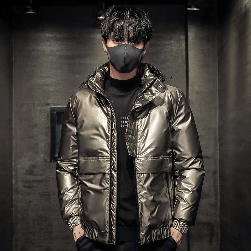 Down jacket for men  new  collection fashion trend men's down jacket outdoor keep warm 90% white duck down coat