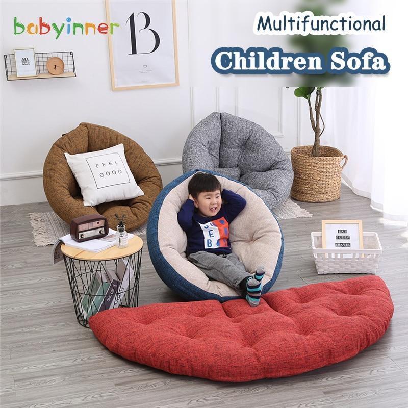 Детское кресло-пуф Babyinner, многофункциональные мешки для кровати, спинки, шезлонг, сиденье, татами