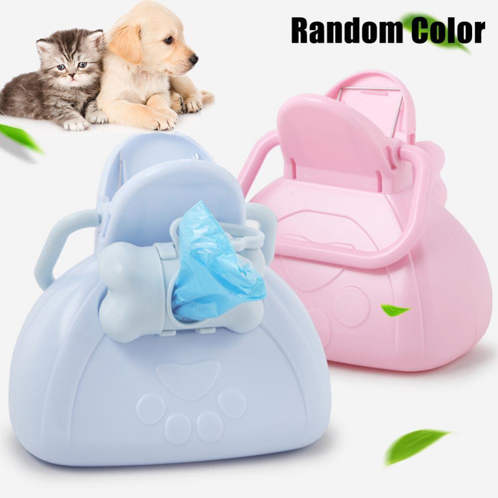 Recogedor portátil de excrementos de perro y gato, bolsa de basura, operación...