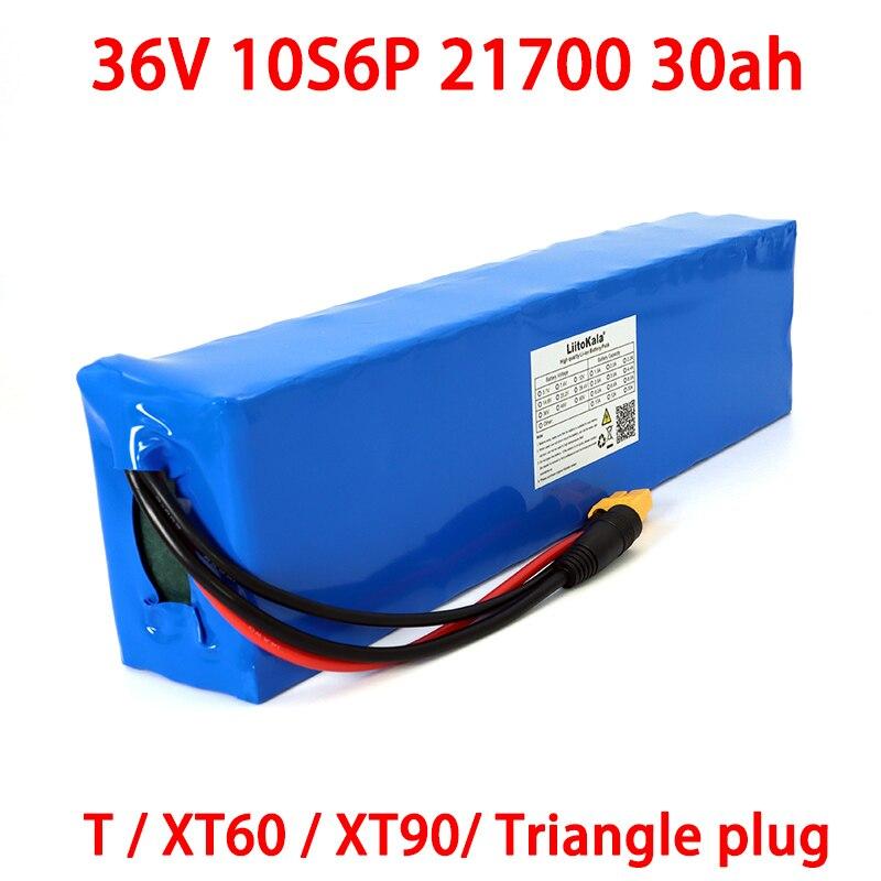 بطارية 36V 30ah 21700 10S6P للدراجة الكهربائية ثلاثية العجلات ، بطارية 42v 30000mah للسكوتر الكهربائي مع حماية BMS
