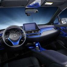 Lsrtw2017 الأزرق abs لوحة سيارة نافذة لوحة التحكم آخر القراءة إطار ضوء الزخارف لتويوتا c-hr 2017 2018 2019 2020 حقوق الإنسان
