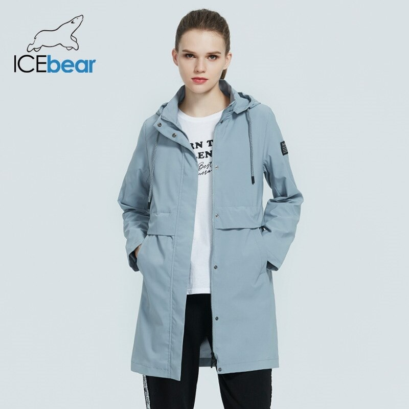 ICEbear 2021 سترة واقية نسائية عصرية عالية الجودة معطف خندق نسائي بقلنسوة ملابس خريفية نسائية GWF20017i