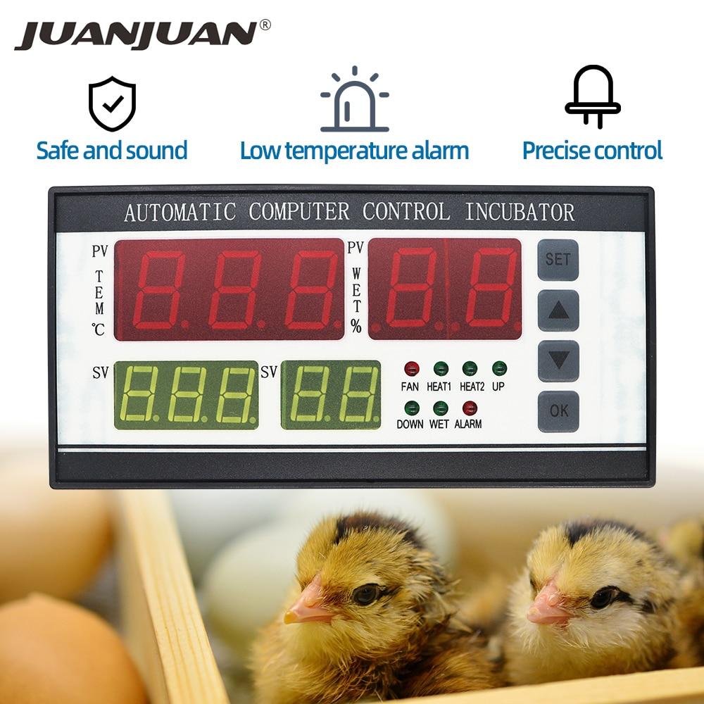 Автоматический контроллер инкубатора для яиц, температура и влажность инкубатора для птицы, скидка 25%