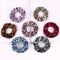 2020 new leopard velvet scrunchie women girls elastic hair rubber bands accessories tie hair ring rope ponytail holder headwear
