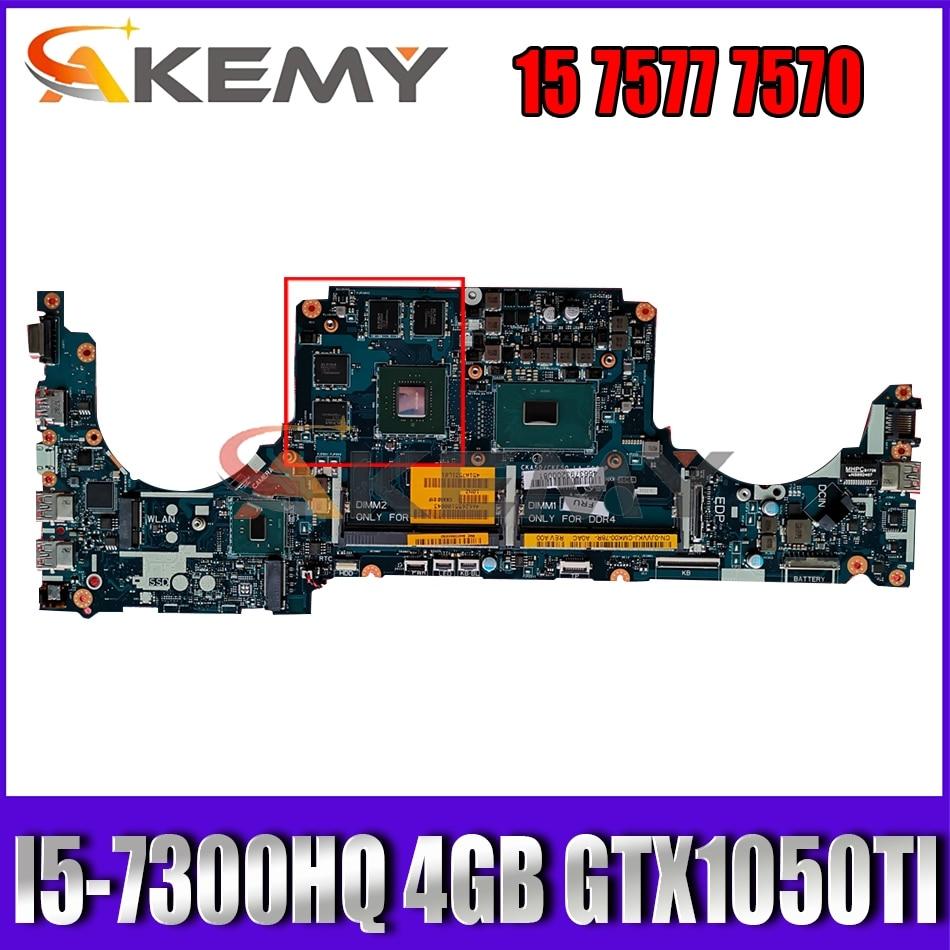 I5-7300HQ 4GB GTX1050TI لديل انسبايرون 15 7577 7570 اللوحة CKA50 CKF50 LA-E991P CN-0KN44F KN44F اللوحة 100% اختبار
