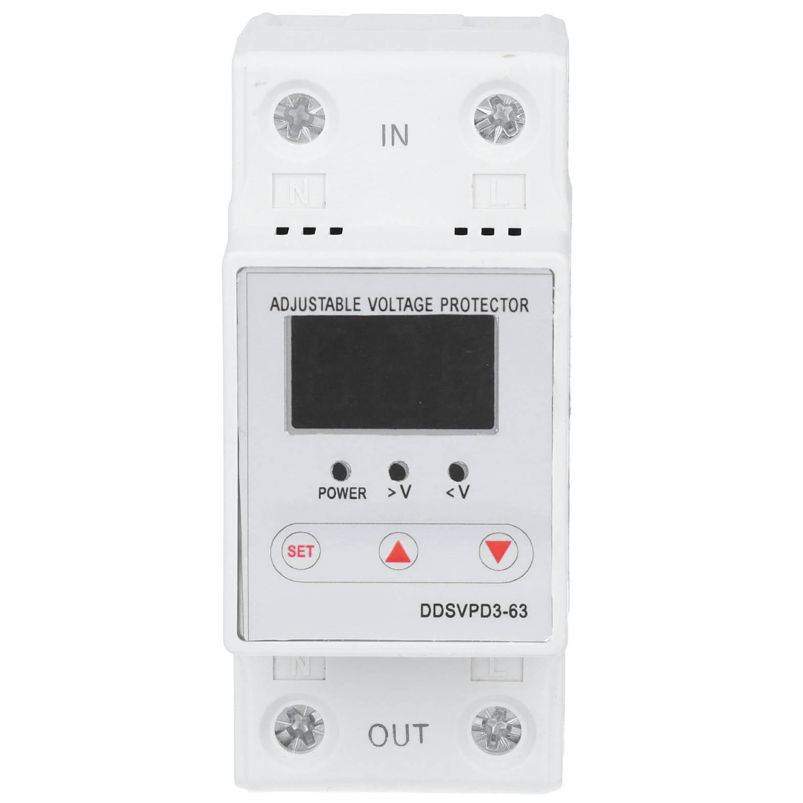 الجهد إعادة جهاز DDSVPD3-63 قابل للتعديل الذاتي الانتعاش التلقائي إعادة الجهد حماية جهاز 220V