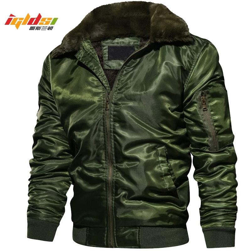Мужская зимняя флисовая куртка MA1 тактическая пилот бомбер теплая военная с