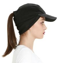 Women Winter Running Fleece Ponytail Cap with Drop Down Ear Warmer Messy Bun Baseball Cap