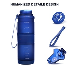 Bouteille deau Tritan en plastique étanche   Bouteille deau de Sport, secoueur de protéines de 500 ML bouteille de boisson de grande capacité sans BPA pour voyage en plein air