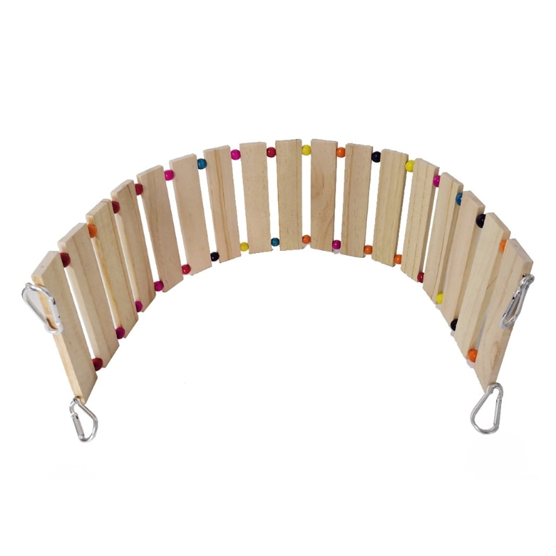 Chicken Hens Coop Swing Toy for Birds Poultry Rooster Chicks Natural Wood Ladder Perch