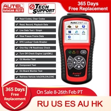 Autel AutoLink AL619 AL519 двигатель ABS SRS подушка безопасности OBD2 считыватель кодов Сканер Инструмент подлинный