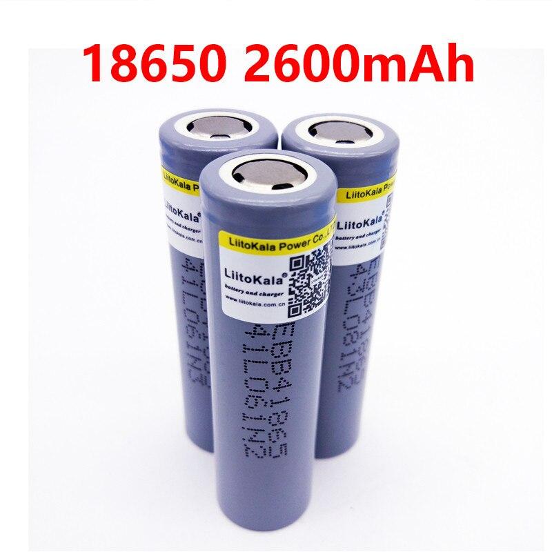 LiitoKala Lii-B4 18650 2600mah 3,6 V Battrey para B4, alimentación móvil, linterna, audio, descarga de alta potencia, paquete de batería