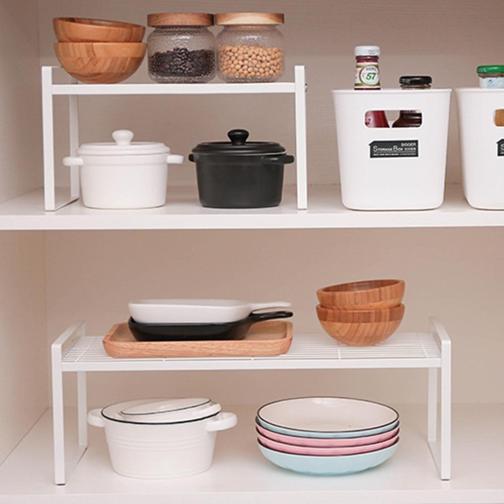 Kitchen Shelf Wall Stainless Steel Storage Rack Plate Spice Seasoning Holder HomeOrganizer