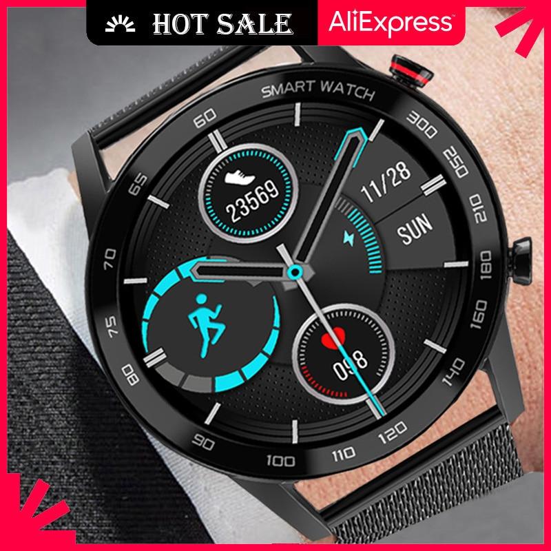 Ipbzhe Smart Watch Men 2021 Business IP68 Waterproof Smartwatch Bluetooth Call Reloj Inteligente For Android Huawei