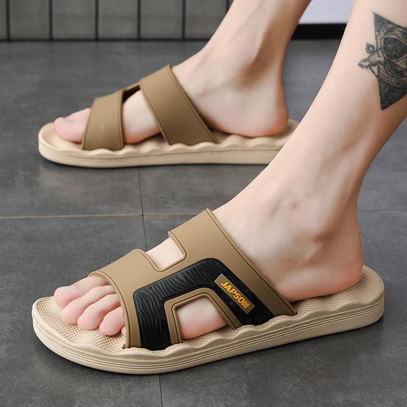 Sanzoog Men Slippers Slides Slide Slipper Summer Shoes Home Indoor House Beach Room Claquette Homme Slipers Soft EVA New 2020