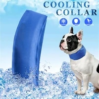 pet dog cooling collar adjustable pets cooling bandanas internal ice sand solid scarf outdoors heatstroke prevention collars