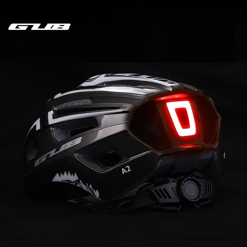 Casco de ciclismo con luz trasera y carga USB, Casco de seguridad...