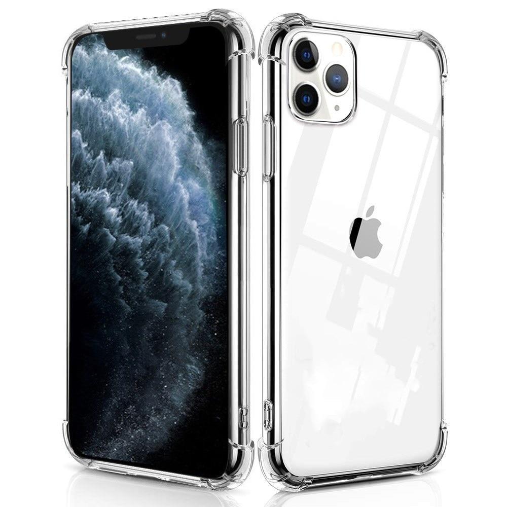 Funda de teléfono a prueba de golpes para Apple iphone 11 Pro Max X XR XS 7 8 Plus 6 6s SE 2, cubierta de TPU suave transparente a la moda con cuatro esquinas y refuerzo