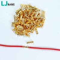 0 5 to 1 5 u shaped terminal tab cold inserts electrical quick crimping terminal line connector brass