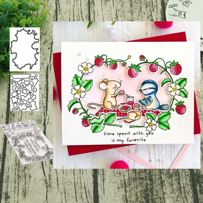 Troqueles de corte de Metal de ratón y sellos claros DIY Scrapbooking tarjeta plantilla álbum de tarjeta de papel de decoración de papel
